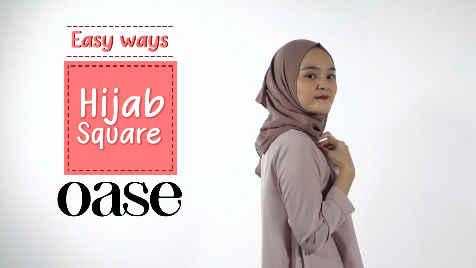 Easy Ways Hijab Square