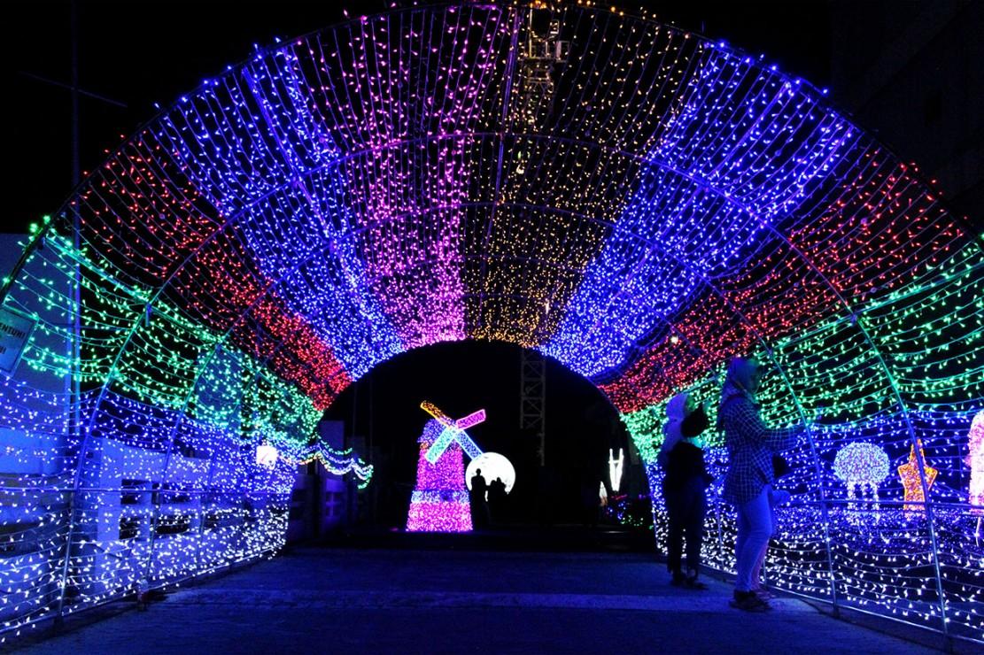 Keindahan Festival Lampu Bekasi