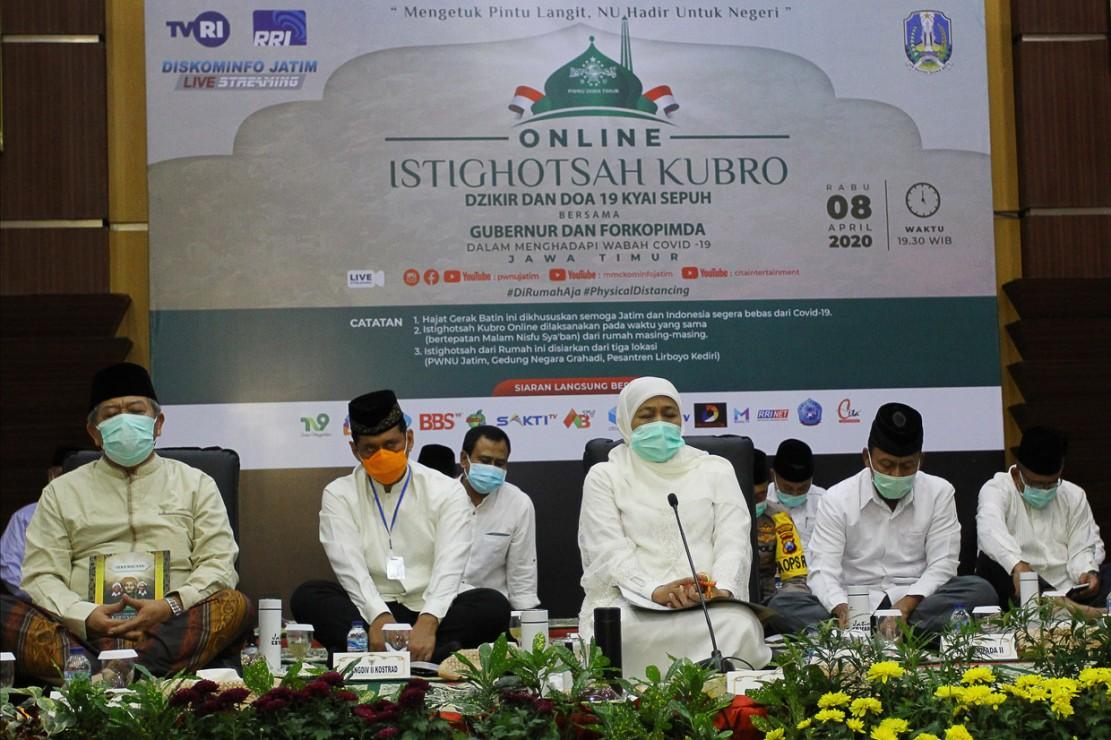 Tokoh Masyarakat dan Ulama Jawa Timur Gelar Istigasah Kubra Secara Daring