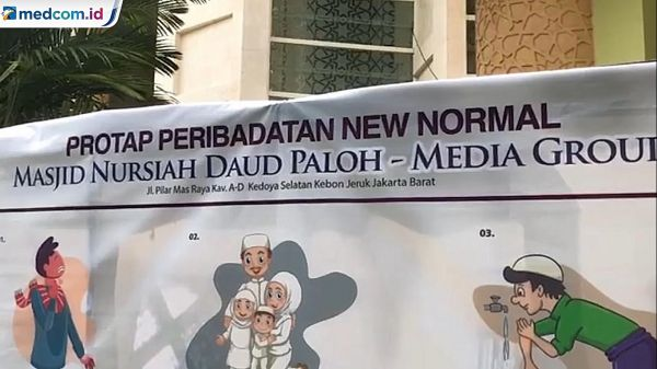 Sambut <i>New Normal</i>, Masjid Nursiah Daud Paloh Gelar Salat Jumat