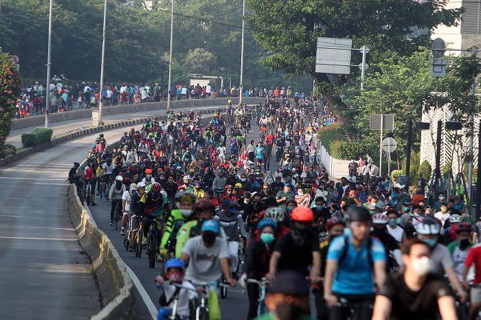 Antisipasi Lonjakan Kasus Corona, <i>Car Free Day</i> Jakarta Kembali Ditutup