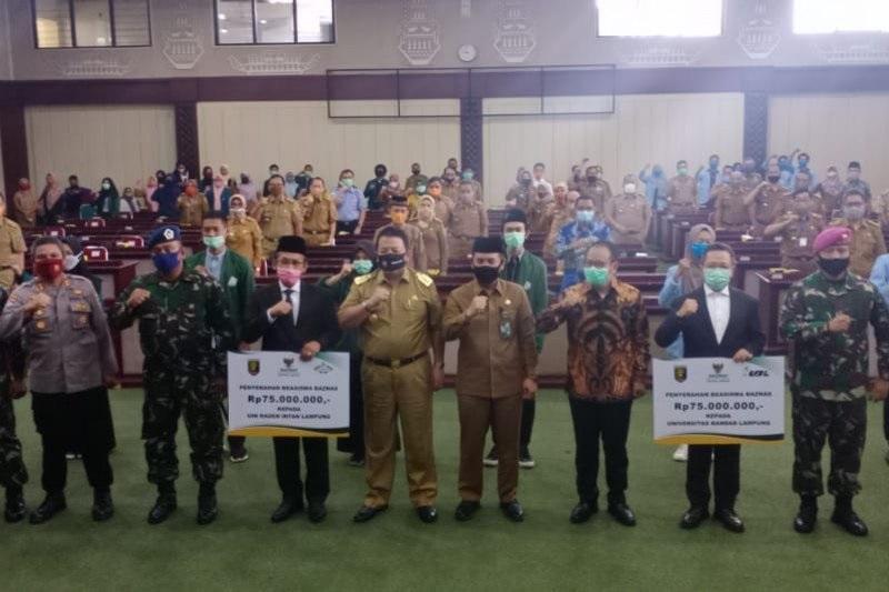 Baznas Lampung Salurkan Beasiswa Senilai Rp225 untuk Mahasiswa Terdampak Covid-19