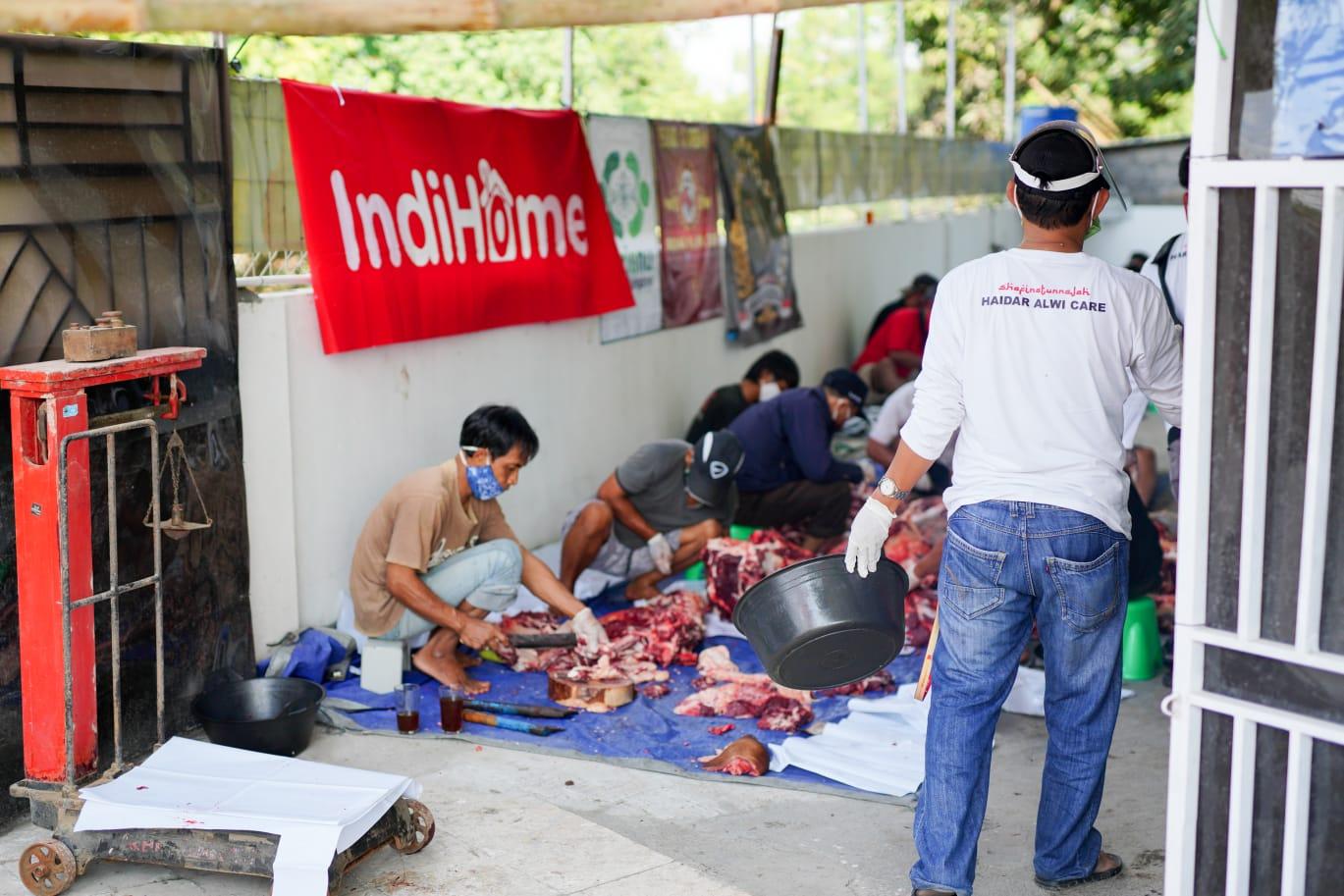 NUCARE-LazisNU United Kingdom Bagikan Daging Kurban untuk Kaum Difabel dan Jompo