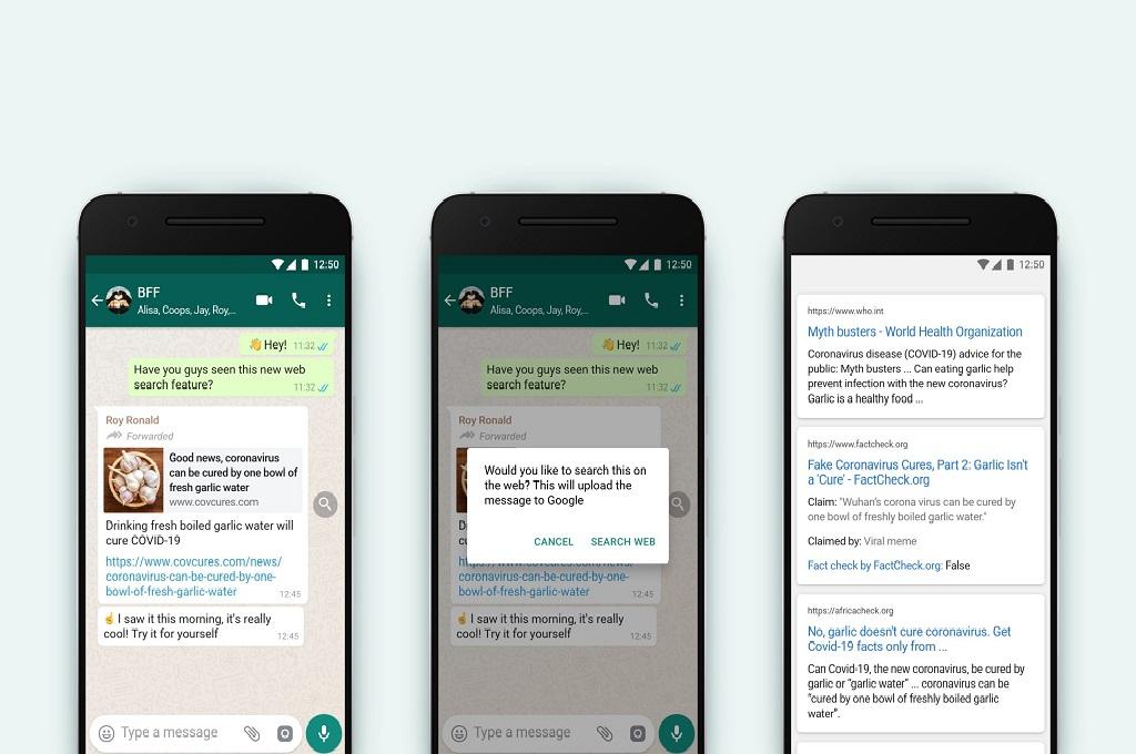 Antisipasi Penyebaran Hoaks, WhatsApp Luncurkan Fitur Search the Web