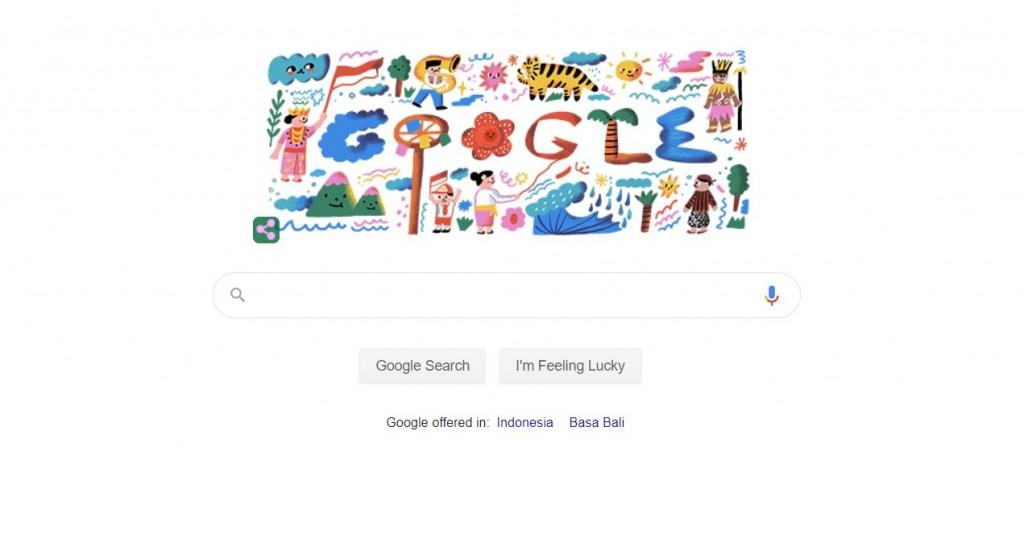 Google Ikut Semarakkan HUT RI Melalui Doodle